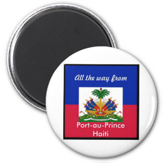 Haiti products 6 cm round magnet