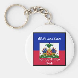 Haiti products basic round button key ring