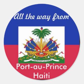 Haiti products round sticker