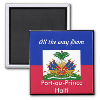 Haiti products square magnet