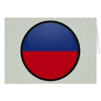 Haiti quality Flag Circle Greeting Card