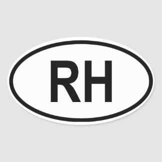 "Haiti ""RH"" Oval Sticker"
