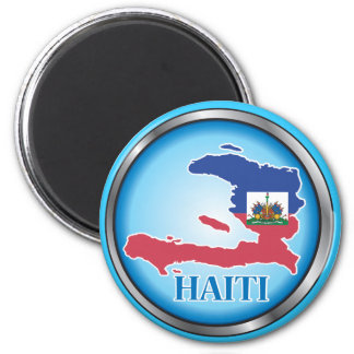 Haiti Round Button.ai 6 Cm Round Magnet