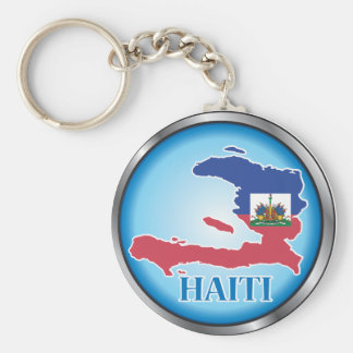 Haiti Round Button.ai Basic Round Button Key Ring