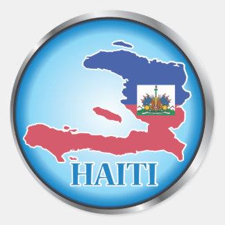 Haiti Round Button.ai Classic Round Sticker