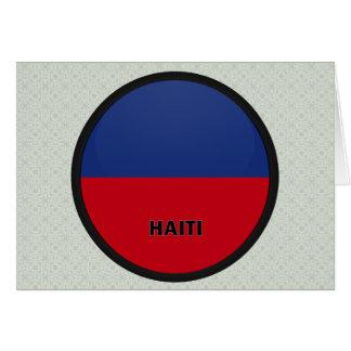Haiti Roundel quality Flag Greeting Card