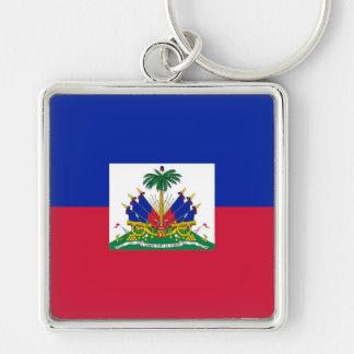 HAITI Silver-Colored SQUARE KEY RING