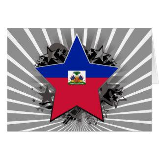 Haiti Star Greeting Card