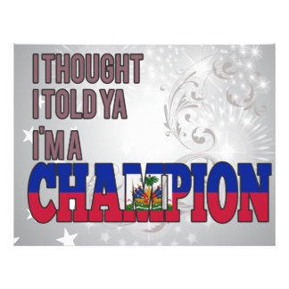 Haitian and a Champion Personalized Flyer