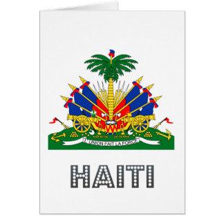 Haitian Emblem Greeting Cards
