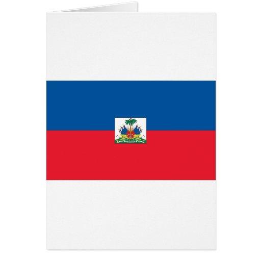 Haitian Flag Card