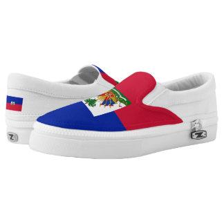 Haitian flag slip on shoes