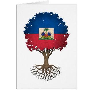 Haitian Flag Tree of Life Customizable Greeting Card