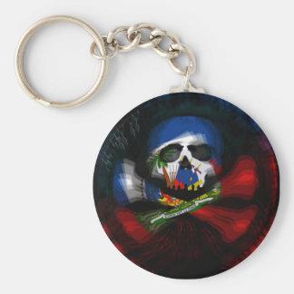 Haitian Pirate Basic Round Button Key Ring
