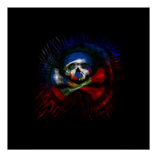 Haitian Pirate Flag Poster