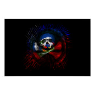 Haitian Pirate Flag Poster