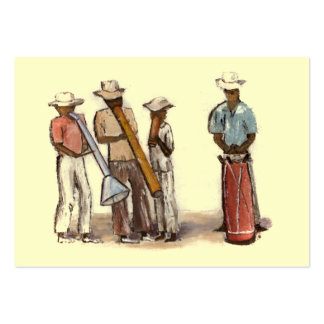 Haitian Street Musicians ATC Pack Of Chubby Business Cards