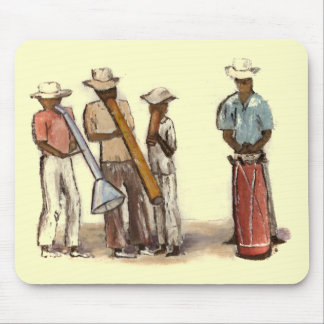 Haitian Street Musicians Mouse Pad