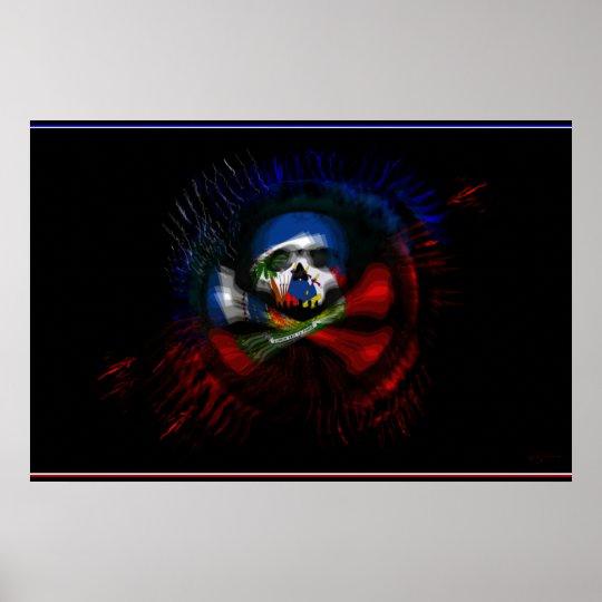 Haitian War Flag Poster