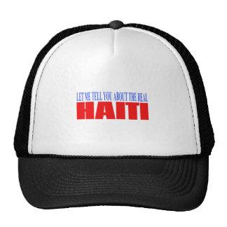 haitireal01 trucker hat