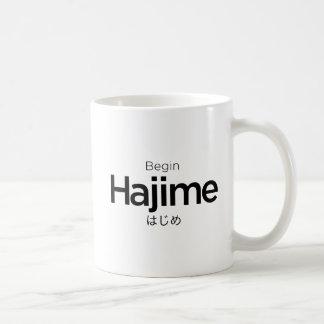 Hajime, Begin, Start, Japanese, Martial Arts Japan Coffee Mug