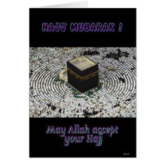 Hajj Mubarak Greeting Card