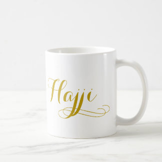 "Hajj Mug for men with the word ""Hajji"""