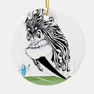 haka rugby, tony fernandes round ceramic decoration