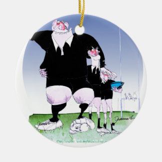 hakka rugby chums, tony fernandes round ceramic decoration