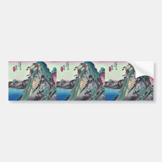 Hakone by Ando Hiroshige Ukiyoe Bumper Stickers