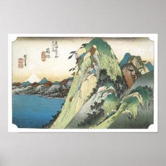 Hakone View of the Lake, Hiroshige, 1831-34 Poster