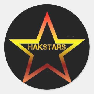 HAKSTARS MEGA STORE CLASSIC ROUND STICKER