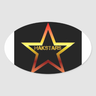 HAKSTARS MEGA STORE OVAL STICKER