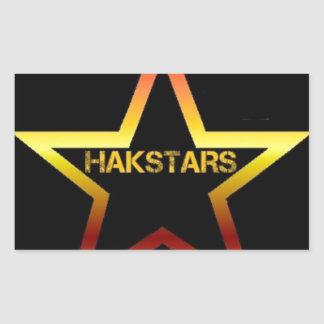 HAKSTARS MEGA STORE RECTANGULAR STICKER