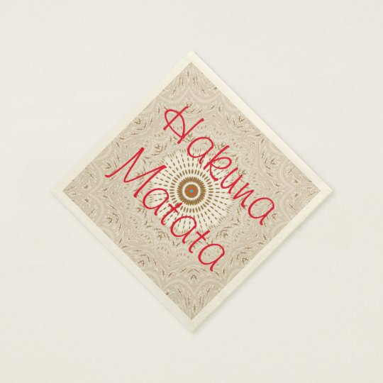 Hakuna Matata Christmas Party Cocktail Napkins Disposable Napkin