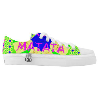 Hakuna Matata Colorful abstract floral design Low Tops
