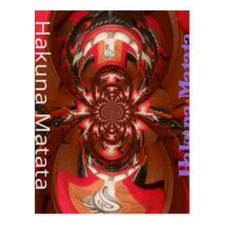 Hakuna Matata Gifts Haloween Special red Postcard