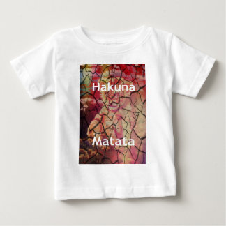 Hakuna Matata  lion dry cracked mud Baby T-Shirt