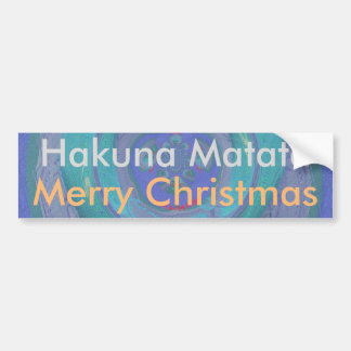 Hakuna Matata Merry Christmas graphic art designs Bumper Sticker