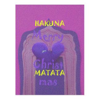 Hakuna Matata Merry Christmas Love  Design.jpg Postcard
