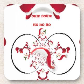 Hakuna Matata Okie Dokie hohoho Santa Christmas sp Beverage Coaster