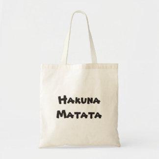 Hakuna Matata Plain totebag Budget Tote Bag