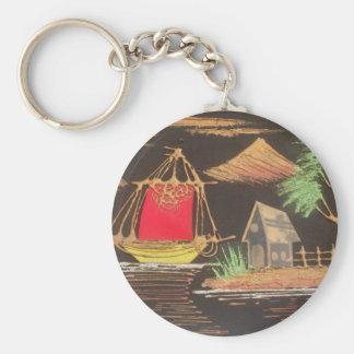 Hakuna Matata Trendy Vintage Sail Ship Safari Nigh Keychains