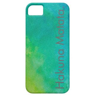 Hakuna Matata Watercolor iPhone 5 Case.