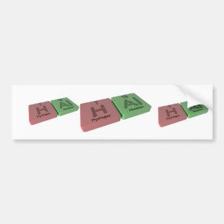 Hal as Hydrogen H and Aluminium Al Bumper Stickers