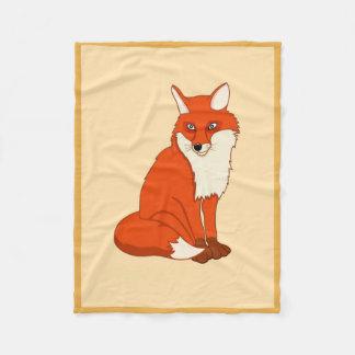 Hala the Good Fox Fleece Blanket