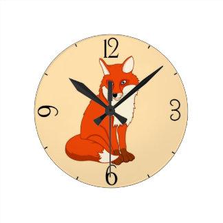 Hala the Good Fox Round Clock