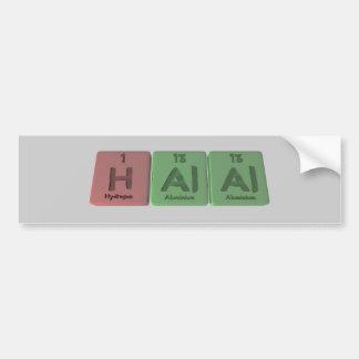 Halal-H-Al-Al-Hydrogen-Aluminium-Aluminium.png Car Bumper Sticker
