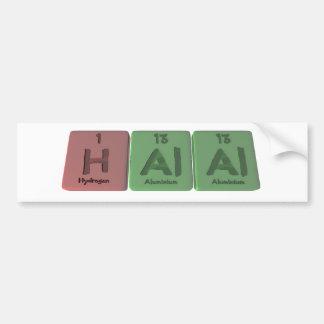 Halal-H-Al-Al-Hydrogen-Aluminium-Aluminium.png Bumper Sticker