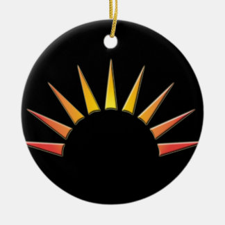 Halbsonne Double-Sided Ceramic Round Christmas Ornament